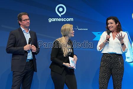 eroeffnung der computerspielemesse gamescom 2019 in