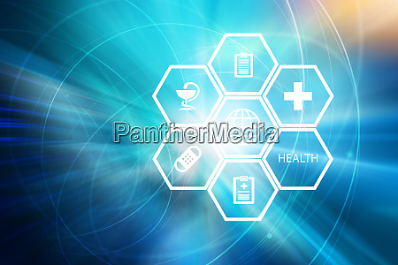 medical abstract background concept series