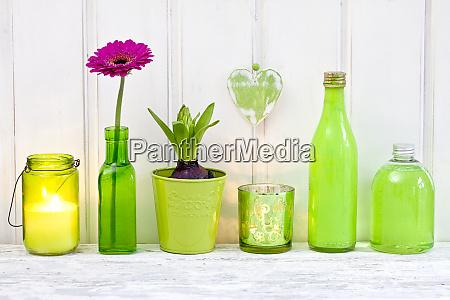 dekorativestillleben in gruen