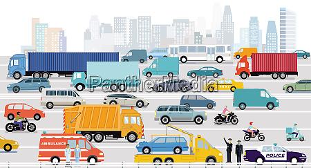 schnellstrassen in einer grossstadt