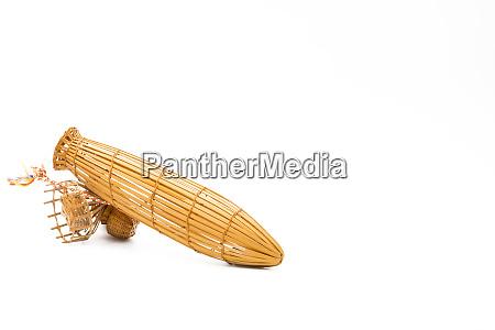 kleine bambus fischereifalle verwendet um fetisch