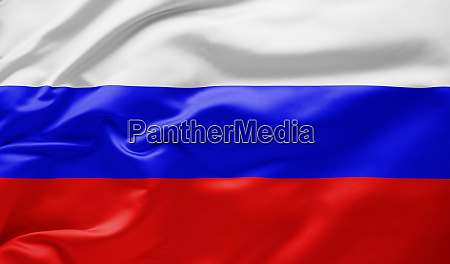 waving national flag of russia