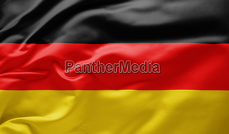 waving national flag of germany