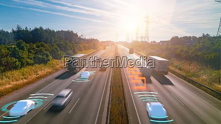 smart car hud autonomes selbstfahrendes verkehrstraegerfahrzeug