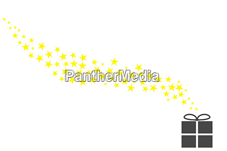 glitter of yellow stars with grey