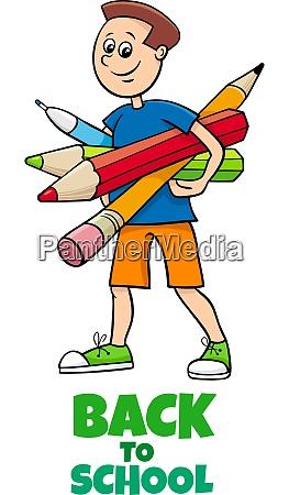 pupil boy back to school cartoon