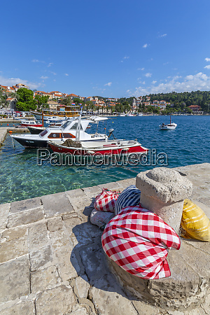 view of harbour boats and cavtat