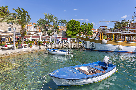 view of harbourside restaurants in cavtat
