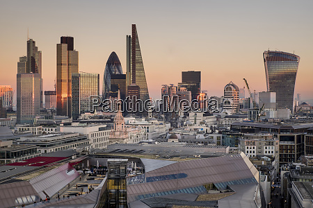 city of london skyline from st