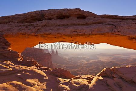 mesa arch sunrise island in the