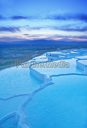 terraced travertine thermal pools pamukkale unesco