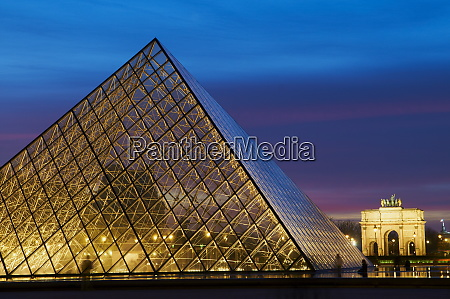 the pyramid of the louvre at