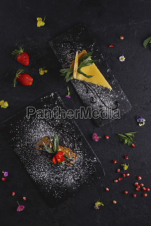 desserts aus zitronenkuchen und kuchen