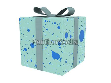 blaue cyan geschenk box oder geschenk
