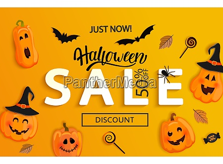 halloween just now sale banner