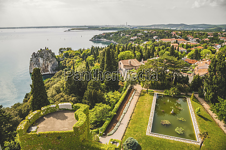 landscaped grounds of duino castle and
