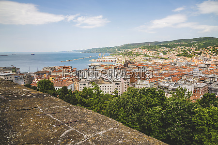 view of trieste and the adriatic