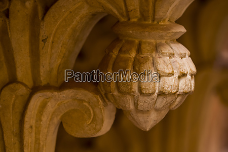 ornate carvings in a temple in