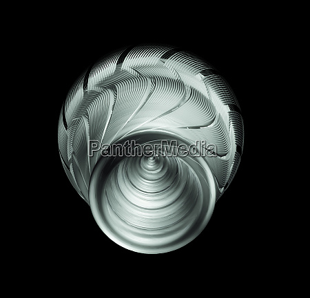 sci-fi, industrial, element, isolated, on, black - 27291935