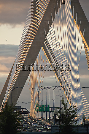traffic moving on a bridge leonard