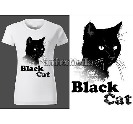 white t shirt design with black