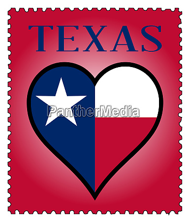 love texas flag postage stamp