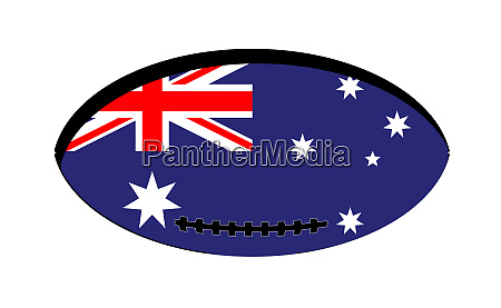 australian flag rugby ball