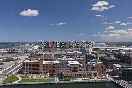 hochwinkelansicht einer stadt boston massachusetts usa