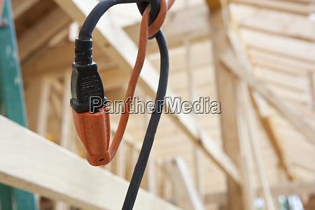 elektrischer steckeranschluss auf einer baustelle