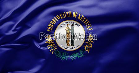 schwenken der staatsflagge von kentucky
