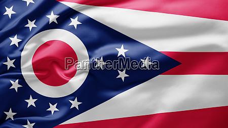 schwenkende staatsflagge von ohio vereinigte