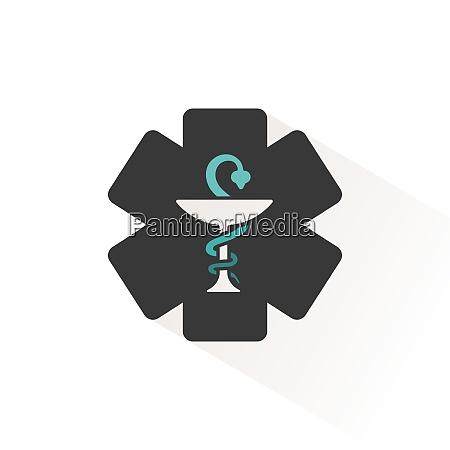 apotheke symbol flaches symbol mit beigefarbenem