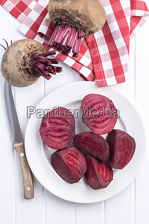 sliced tasty raw beetroot