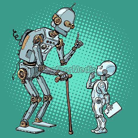 alter und neuer roboter
