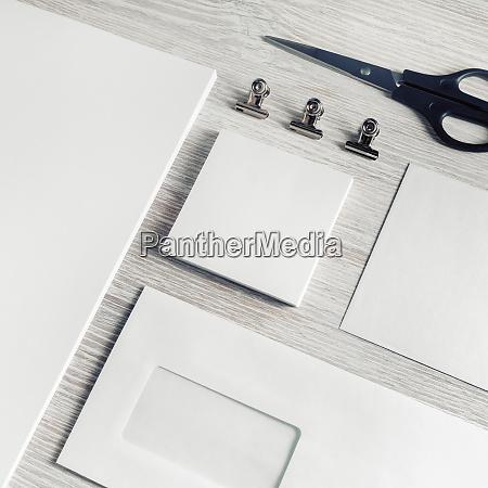 briefpapier mock up leere corporate identity