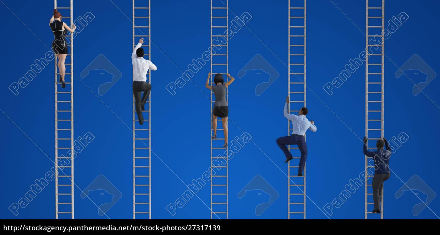 geschäftsleute, klettern, leitern - 27317139