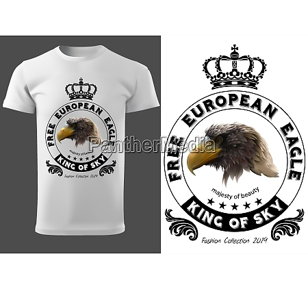 t shirt design with eagle head