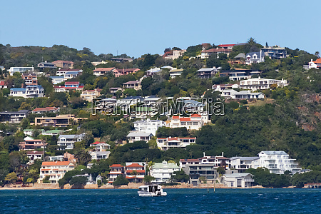 houses on the hill by the