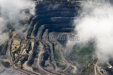 aerial view of a mine cape