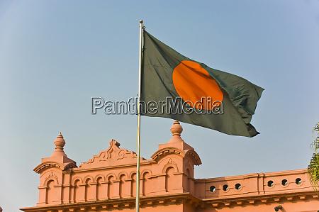 flag of bangladesh before ahsan manzil