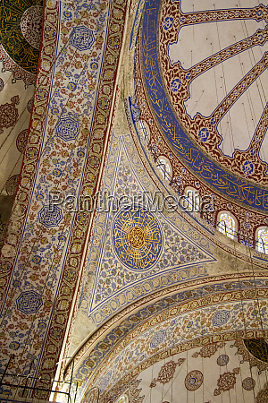 ceiling decoration in the blue mosque