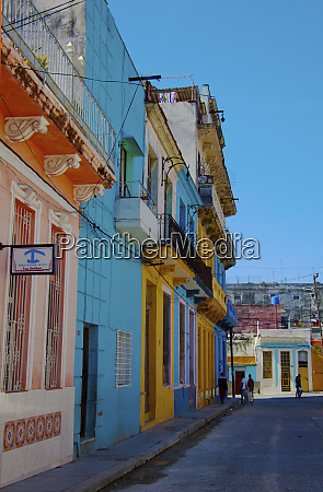 havana cuba bright blue and yellow