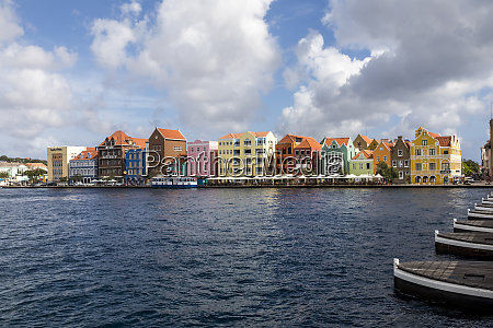lesser antilles curacao willemstad colorful shopping
