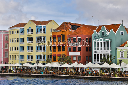 lesser antilles curacao willemstad people relaxing