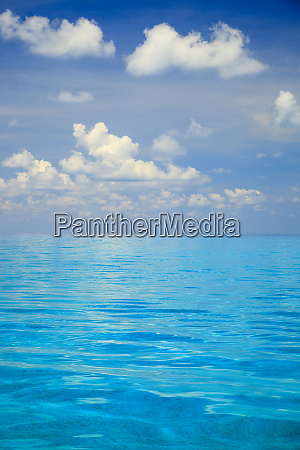 close up of blue tropical water