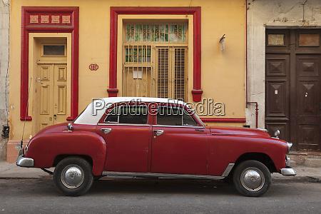 cuba havana classic car parked on