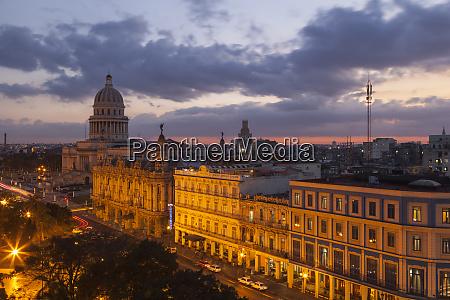 cuba havana twilight over the city