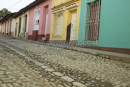 cuba trinidad traditional cobblestone street trinidad