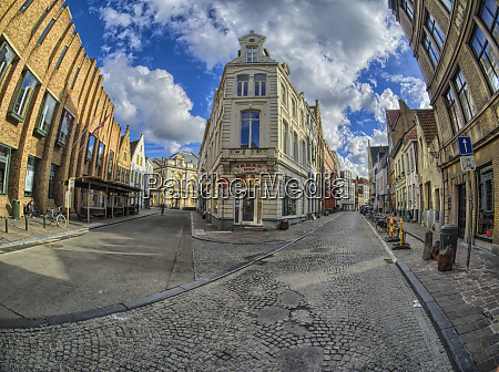 cobbled street in the old town