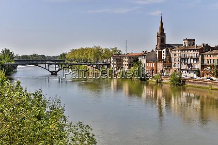 agua blue sky bridge eglise saint